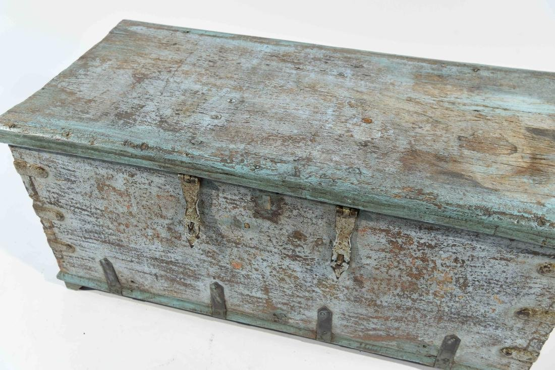 ANTIQUE PAINTED DISTRESSED CHEST - 3
