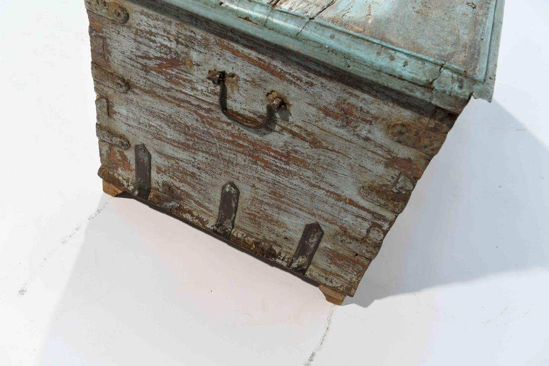 ANTIQUE PAINTED DISTRESSED CHEST - 4