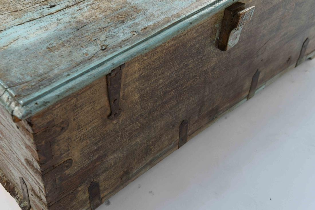 ANTIQUE PAINTED DISTRESSED CHEST - 5