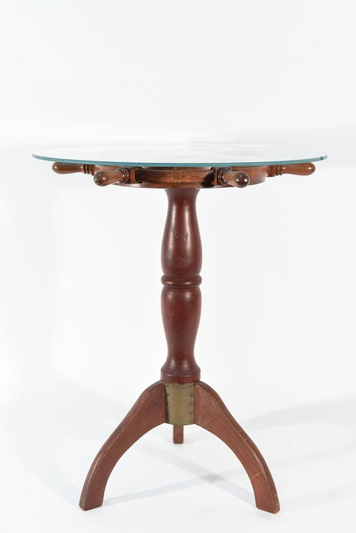 SHIP'S WHEEL SIDE TABLE
