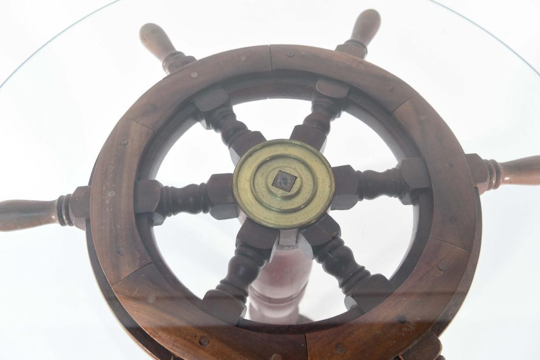 SHIP'S WHEEL SIDE TABLE - 6