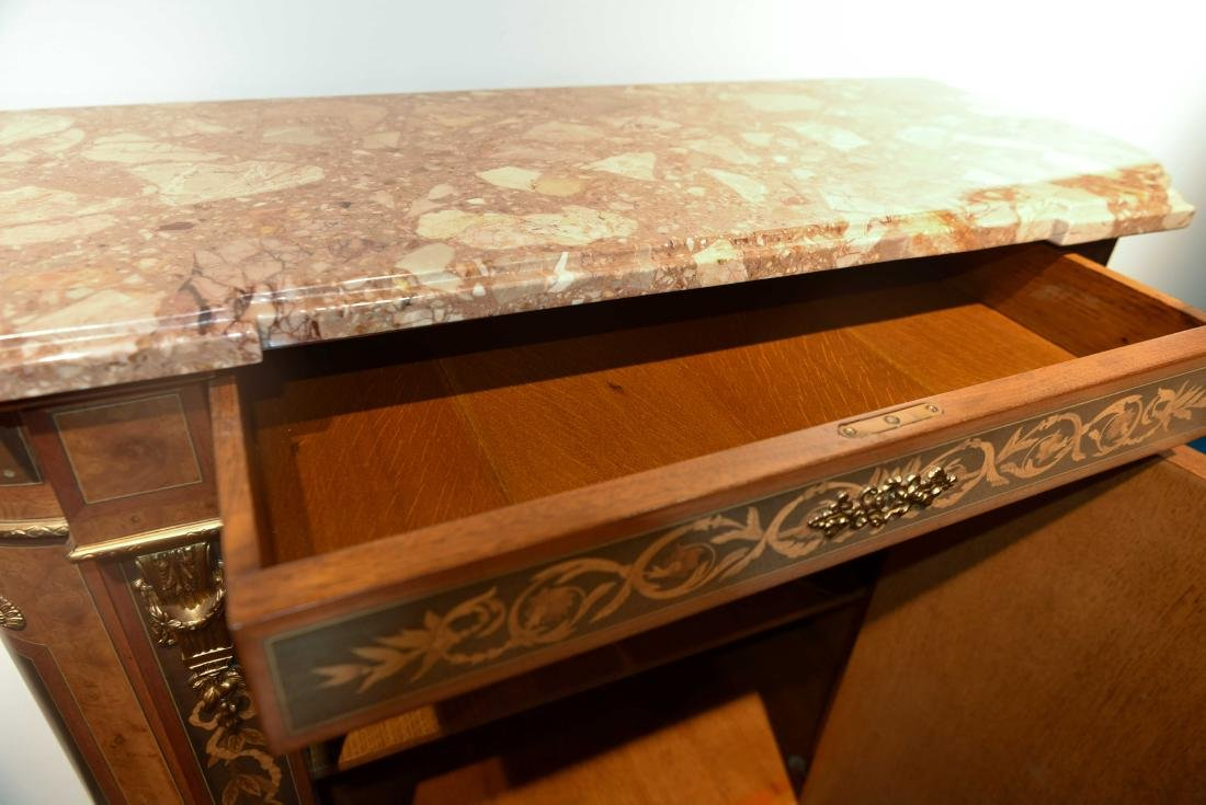 VICTORIAN MARBLE TOP CABINET - 11