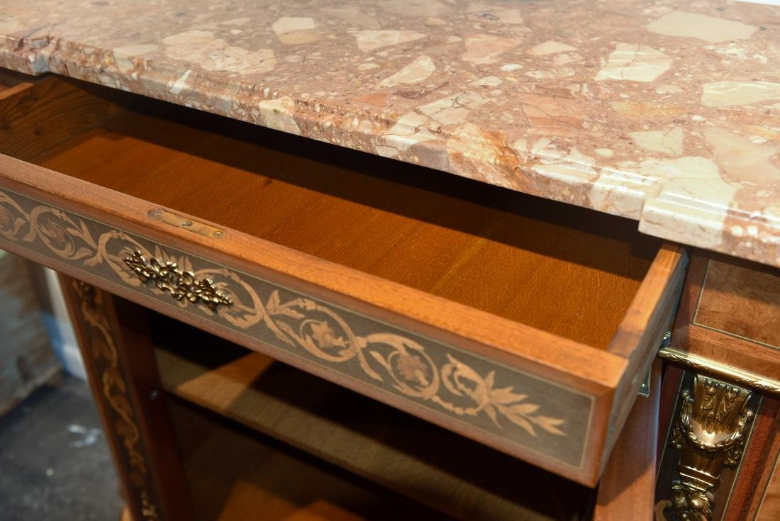VICTORIAN MARBLE TOP CABINET - 12