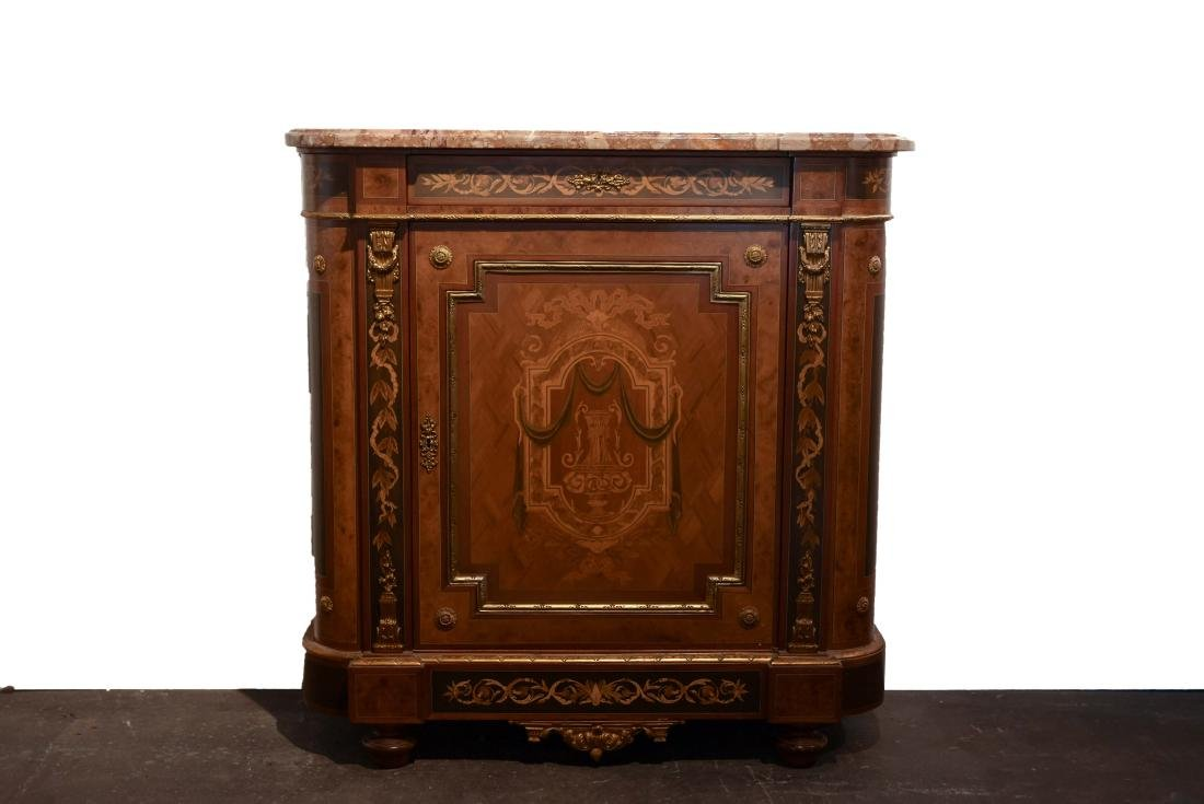 VICTORIAN MARBLE TOP CABINET