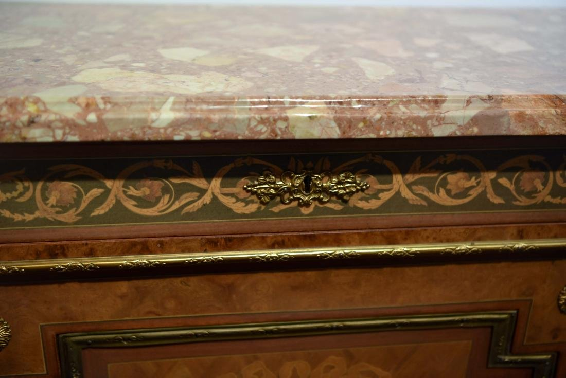 VICTORIAN MARBLE TOP CABINET - 2