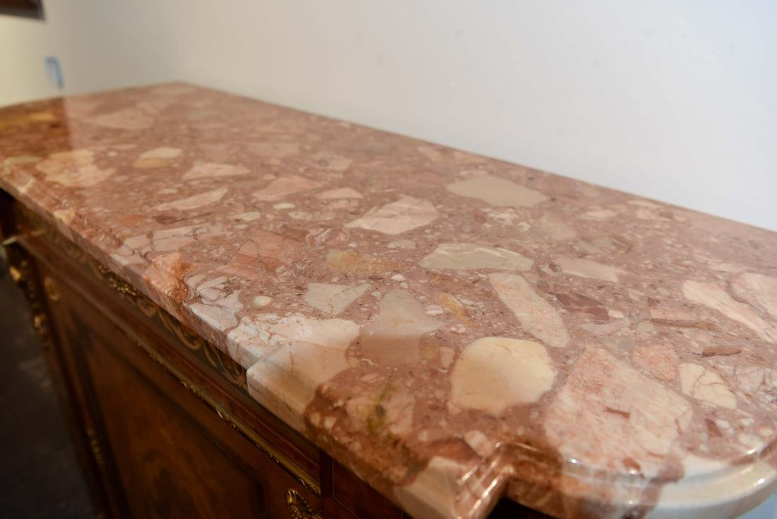 VICTORIAN MARBLE TOP CABINET - 4