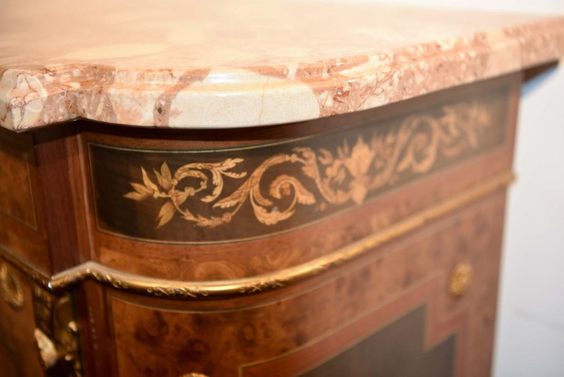 VICTORIAN MARBLE TOP CABINET - 5