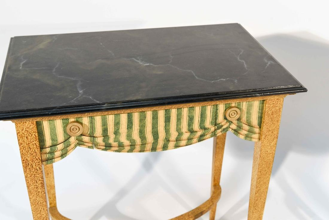 PAIR FAUX PAINTED SIDE TABLES - 3