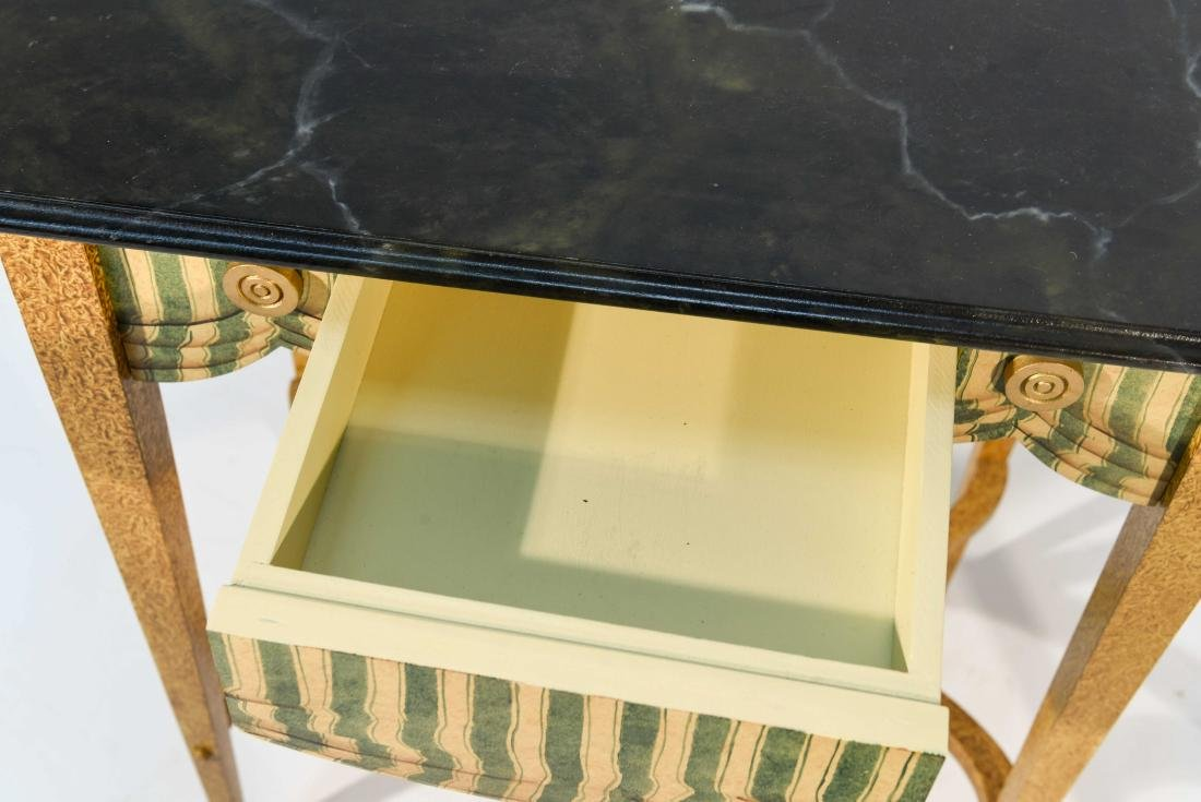 PAIR FAUX PAINTED SIDE TABLES - 4