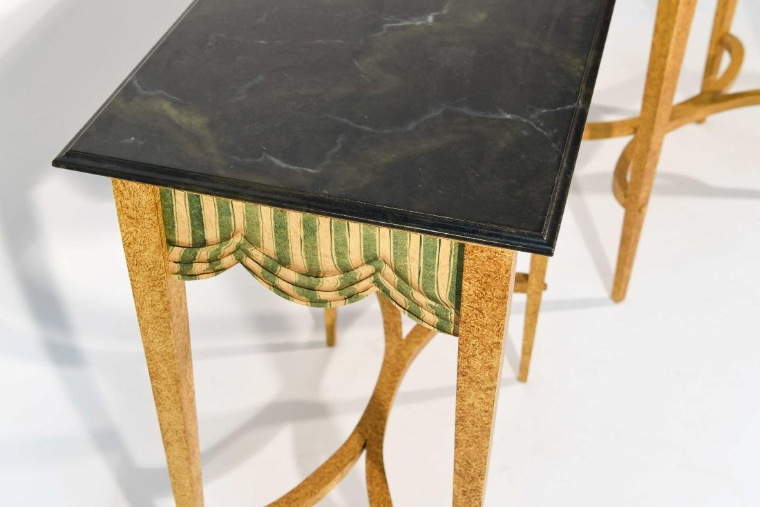 PAIR FAUX PAINTED SIDE TABLES - 5