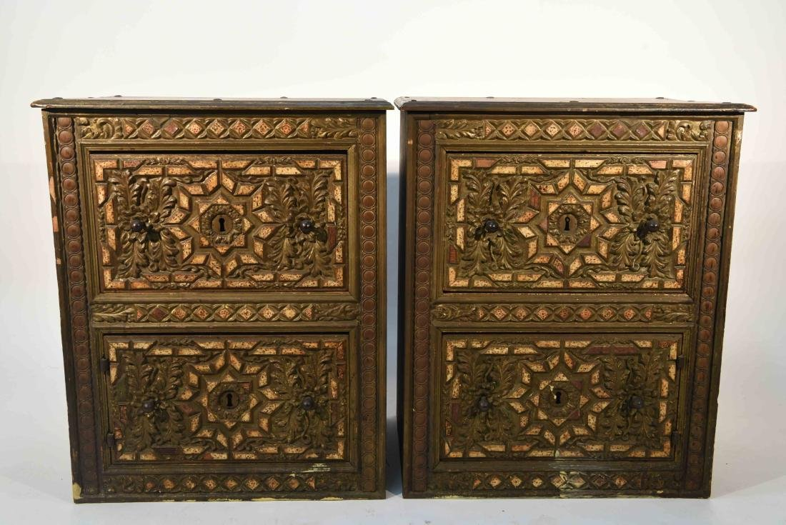 PAIR OF 17/18TH C. SPANISH COLONIAL STYLE CABINETS