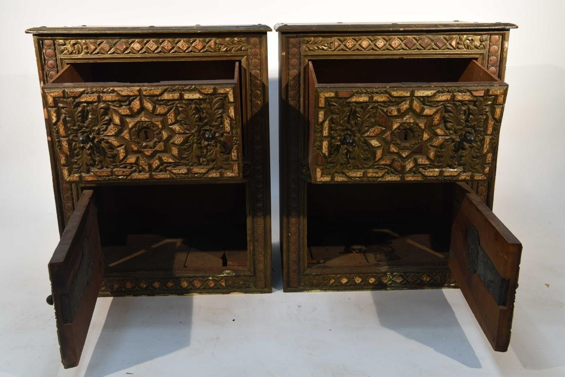 PAIR OF 17/18TH C. SPANISH COLONIAL STYLE CABINETS - 5