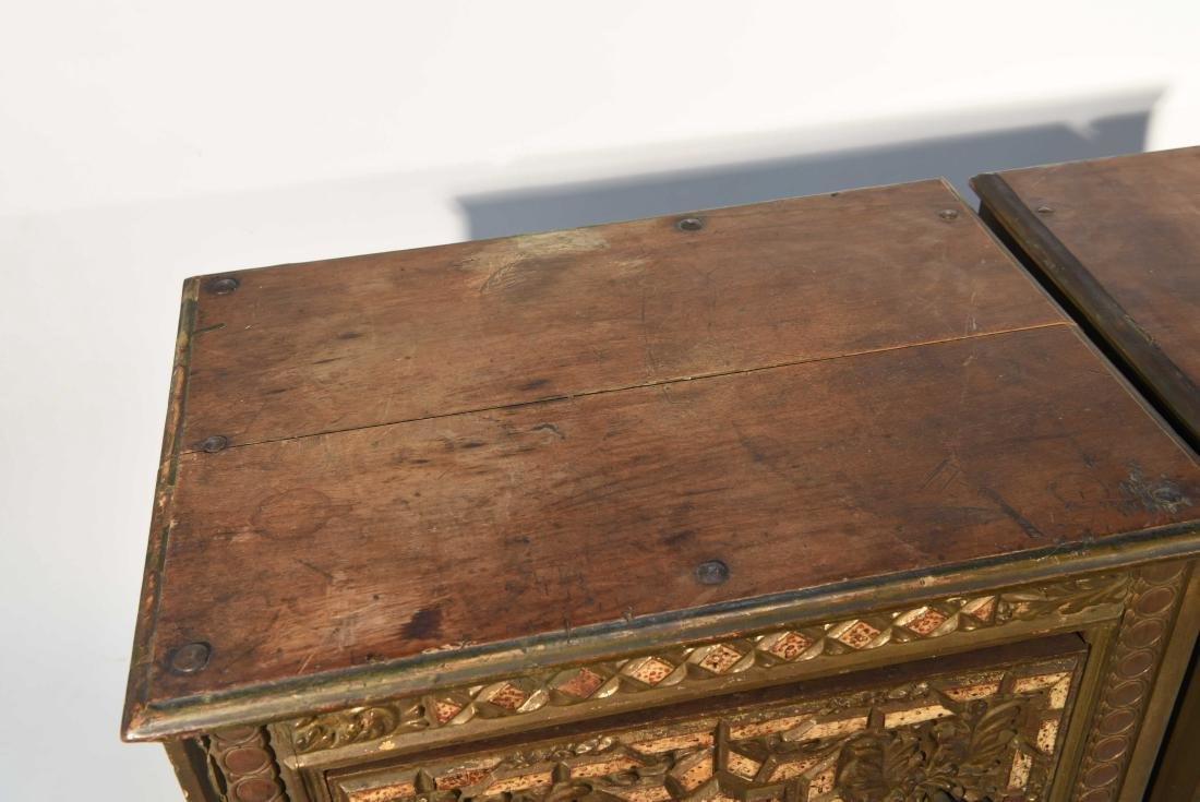 PAIR OF 17/18TH C. SPANISH COLONIAL STYLE CABINETS - 8