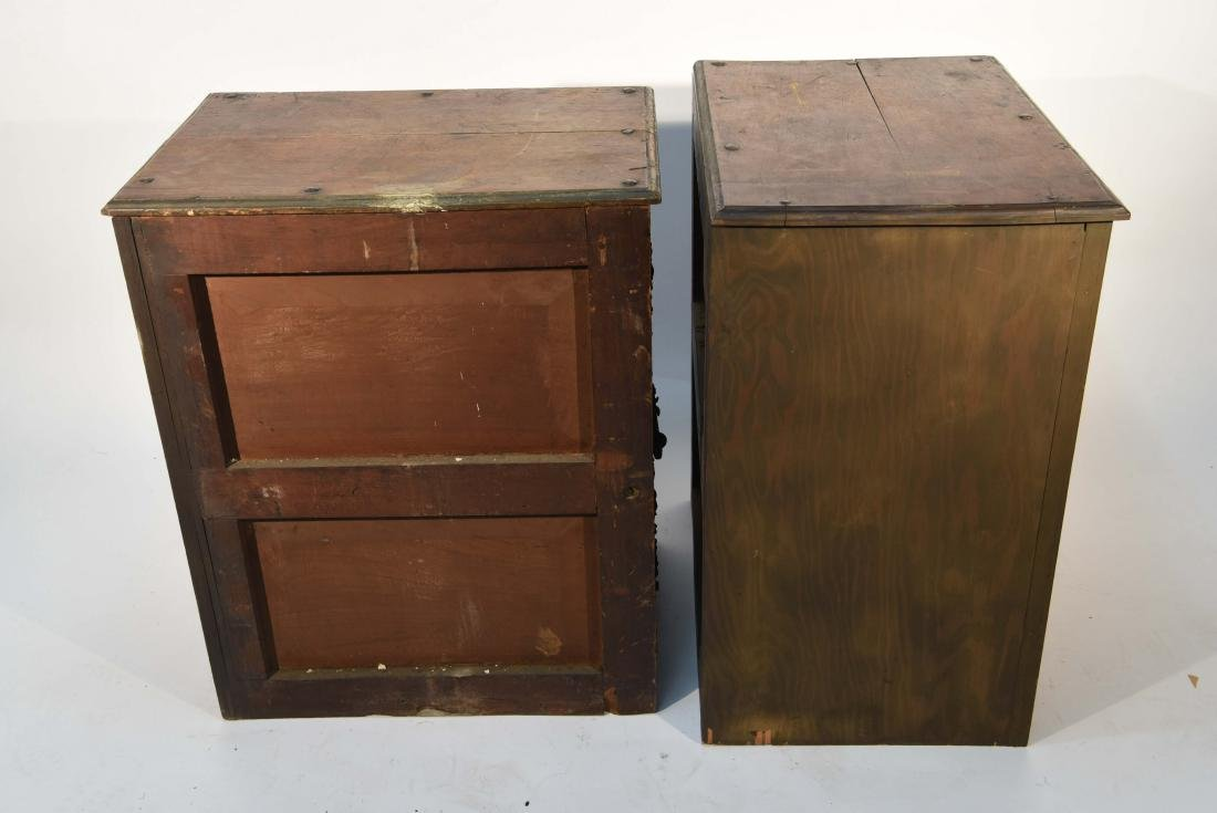 PAIR OF 17/18TH C. SPANISH COLONIAL STYLE CABINETS - 9