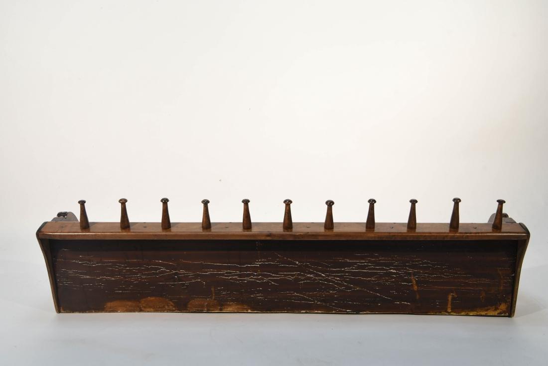 CARVED WOOD ART NOUVEAU COAT RACK - 10