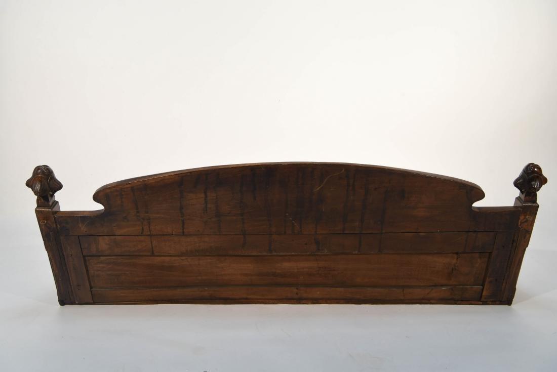 CARVED WOOD ART NOUVEAU COAT RACK - 7