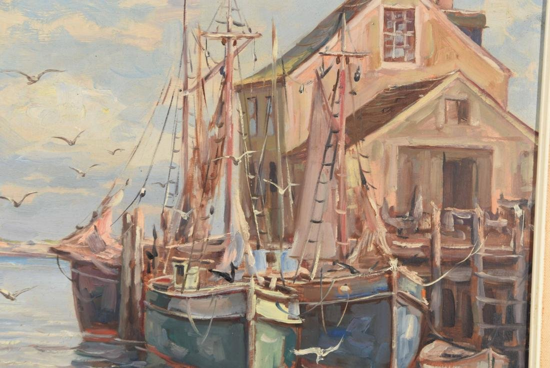 20TH CENTURY VIEW OF BOATS ON DOCK O/B - 2