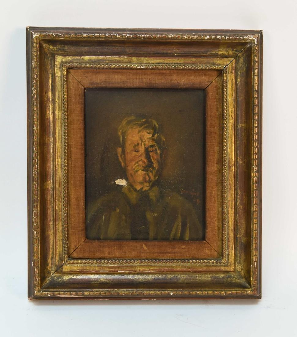 HENRY MAJOR (1888-1948) O/C PORTRAIT OF MAN