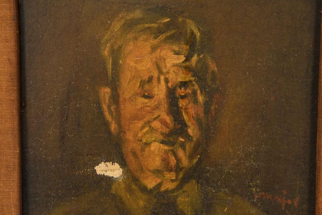 HENRY MAJOR (1888-1948) O/C PORTRAIT OF MAN - 2