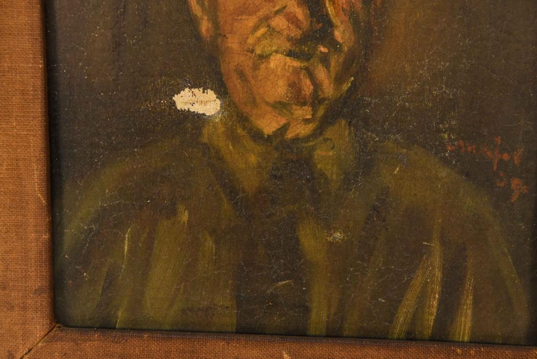 HENRY MAJOR (1888-1948) O/C PORTRAIT OF MAN - 3