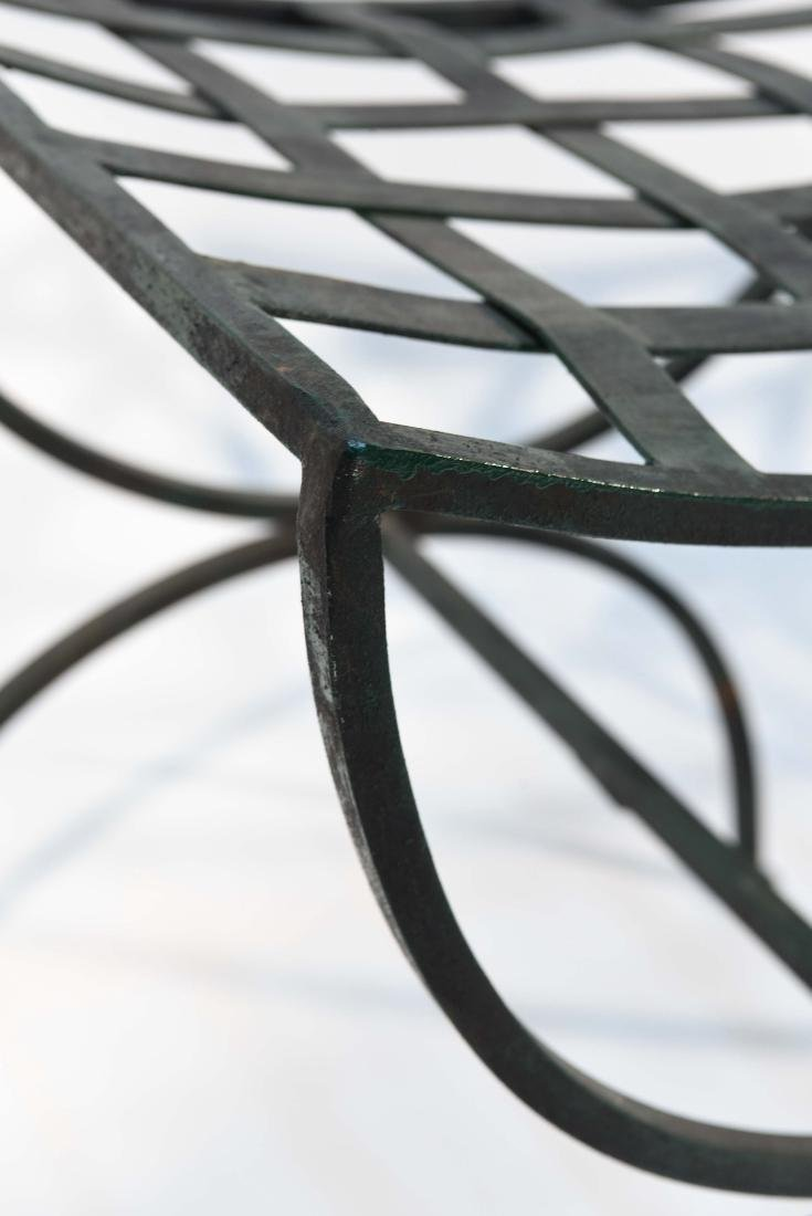 PAIR OF OUTDOOR IRON SEATS / BENCHES - 10