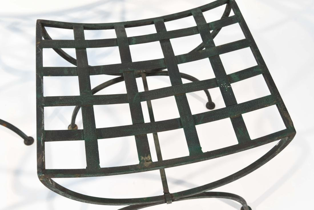 PAIR OF OUTDOOR IRON SEATS / BENCHES - 3