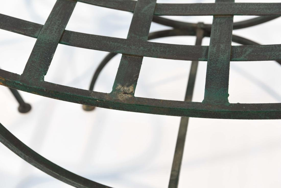 PAIR OF OUTDOOR IRON SEATS / BENCHES - 4