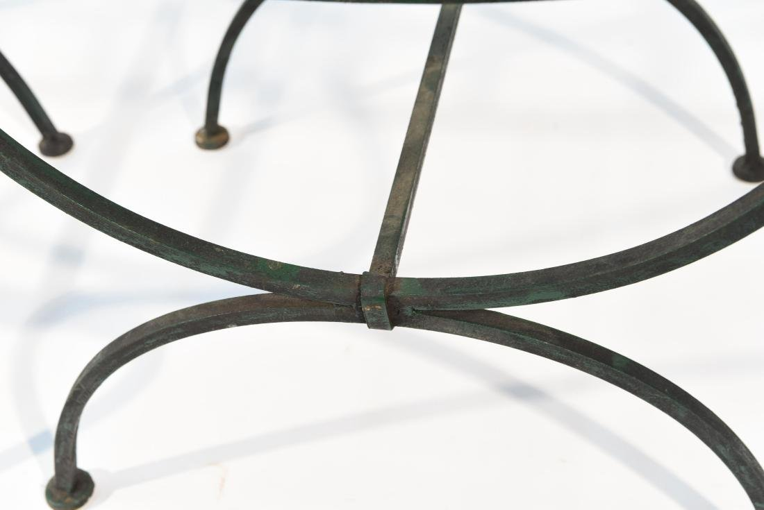 PAIR OF OUTDOOR IRON SEATS / BENCHES - 5