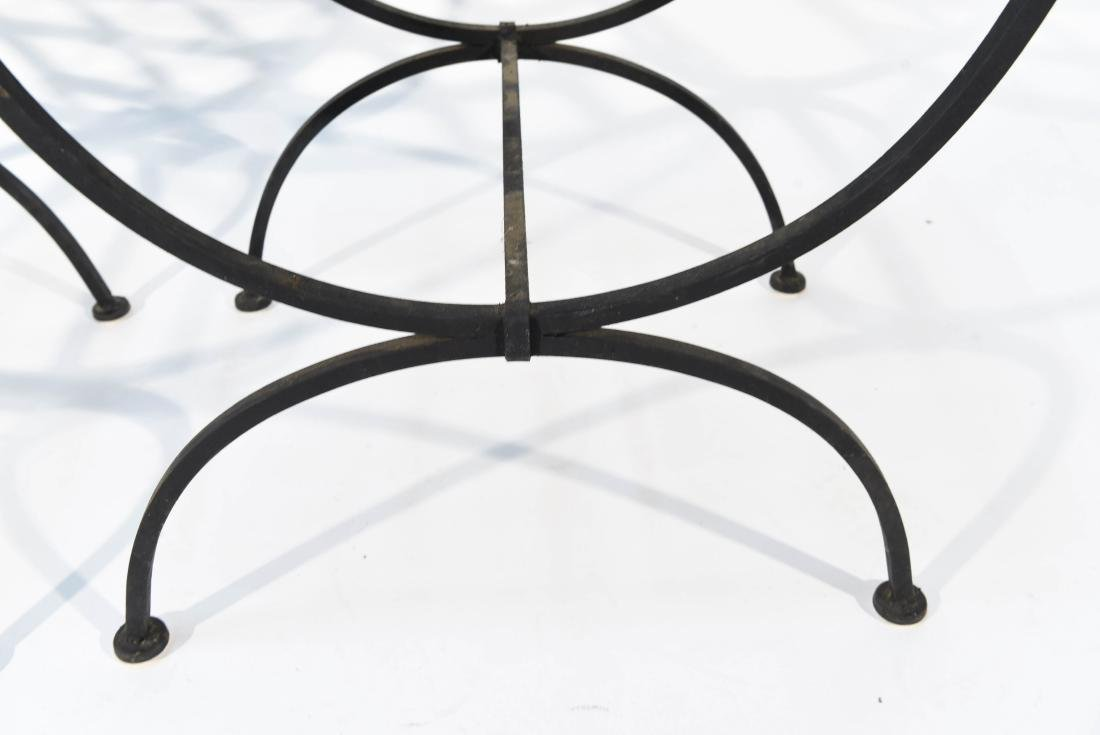 PAIR OF OUTDOOR IRON SEATS / BENCHES - 6