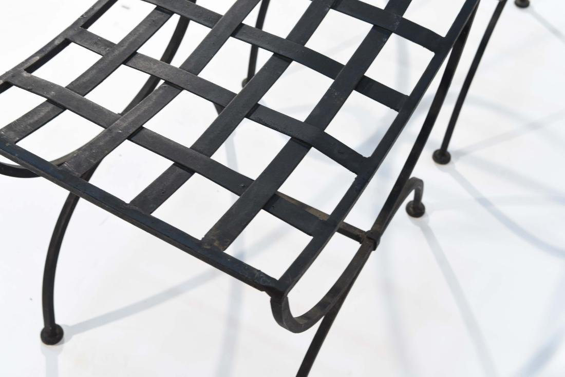 PAIR OF OUTDOOR IRON SEATS / BENCHES - 7