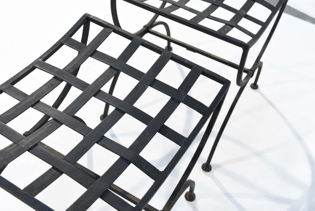 PAIR OF OUTDOOR IRON SEATS / BENCHES - 8