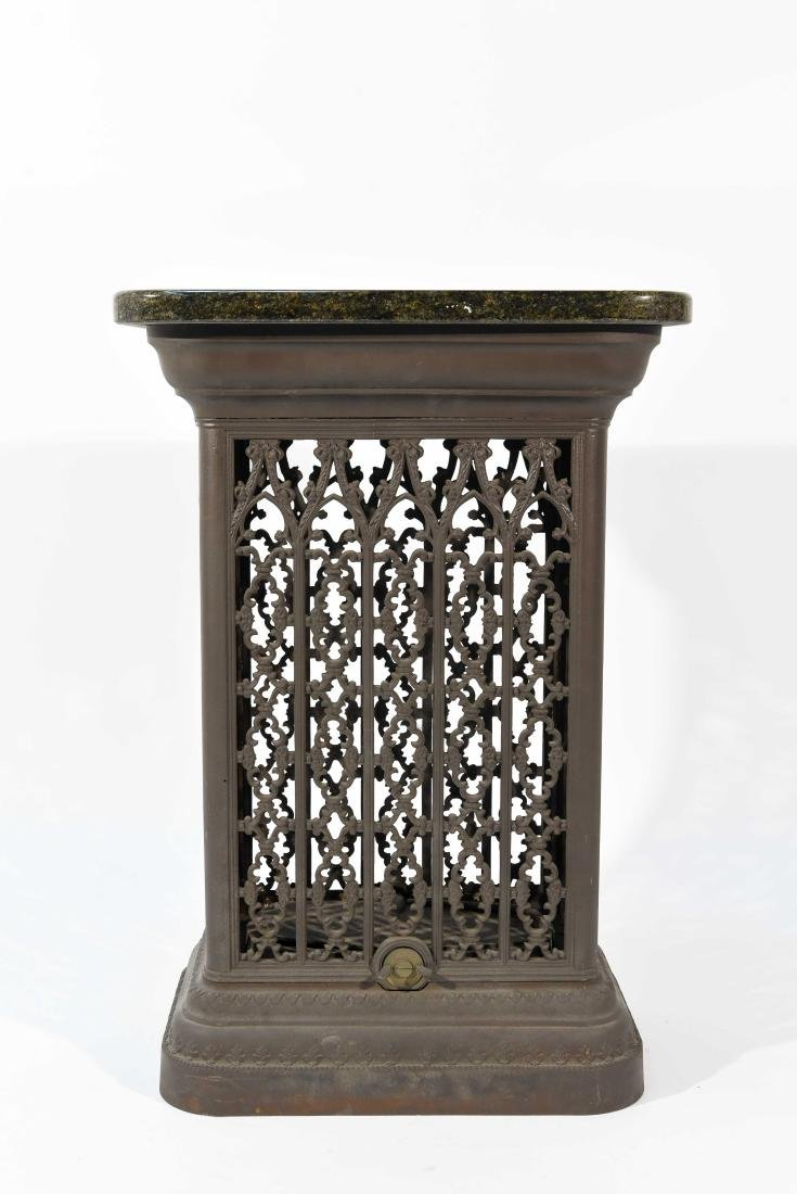 VICTORIAN RADIATOR COVER WITH MARBLE TOP