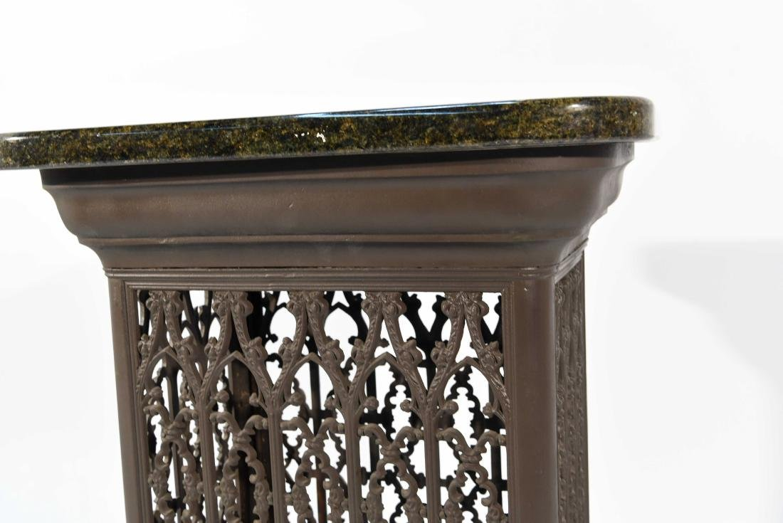 VICTORIAN RADIATOR COVER WITH MARBLE TOP - 5