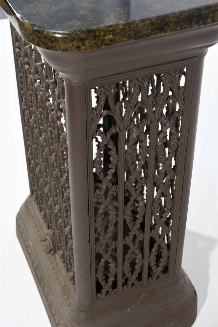 VICTORIAN RADIATOR COVER WITH MARBLE TOP - 7