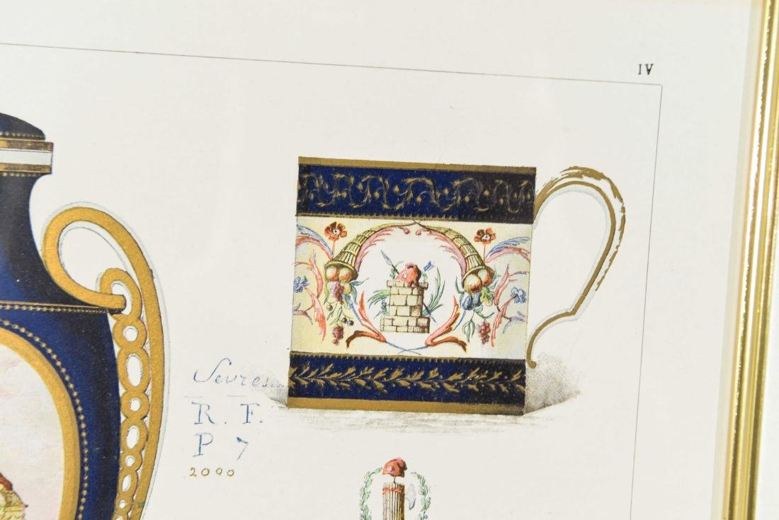 PRINT OF SÈVRES PORCELAIN - 6