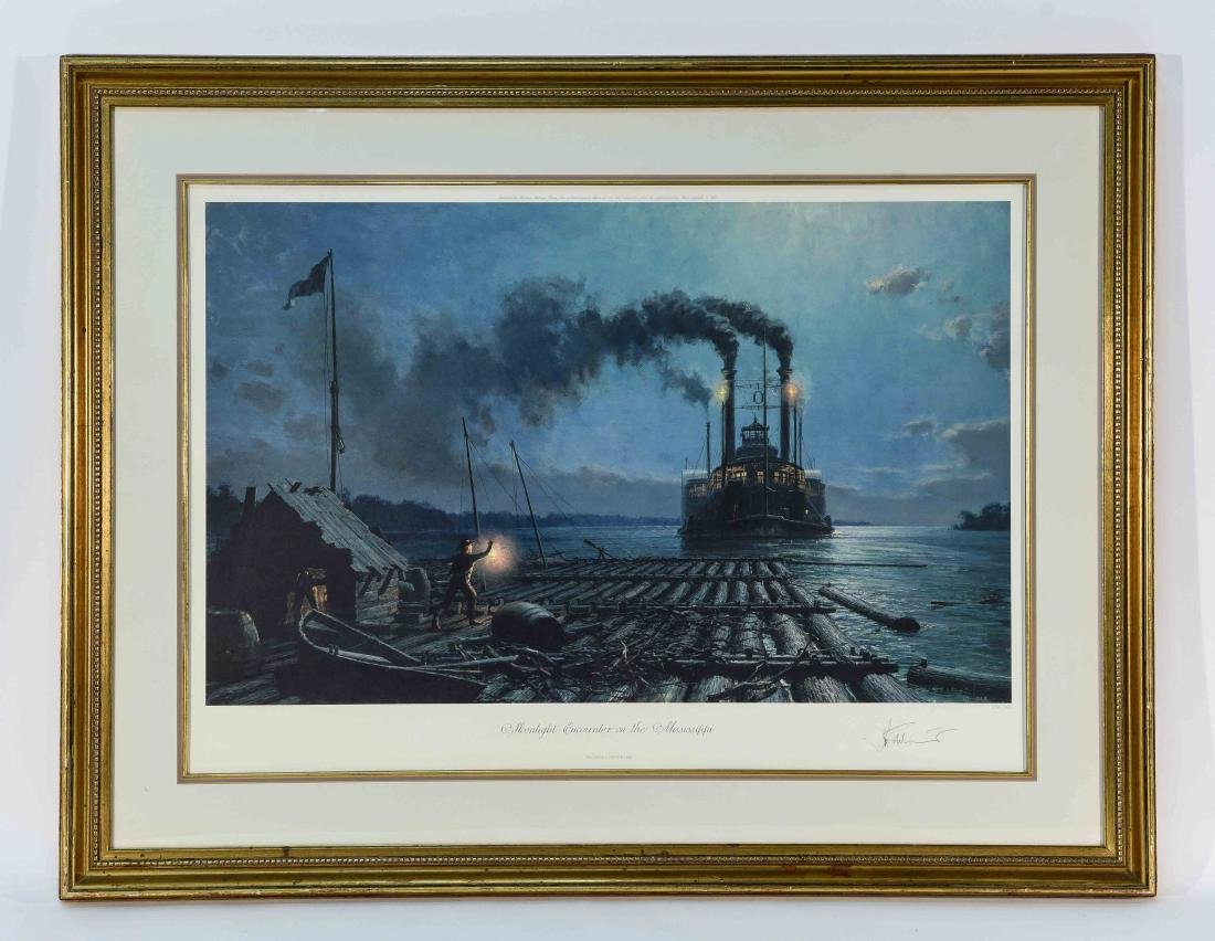 JOHN STOBART SEASCAPE PRINT, SIGNED AND NUMBERED
