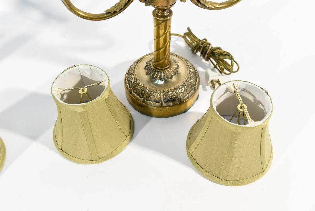 PAIR CANDLESTICK LAMPS - 7