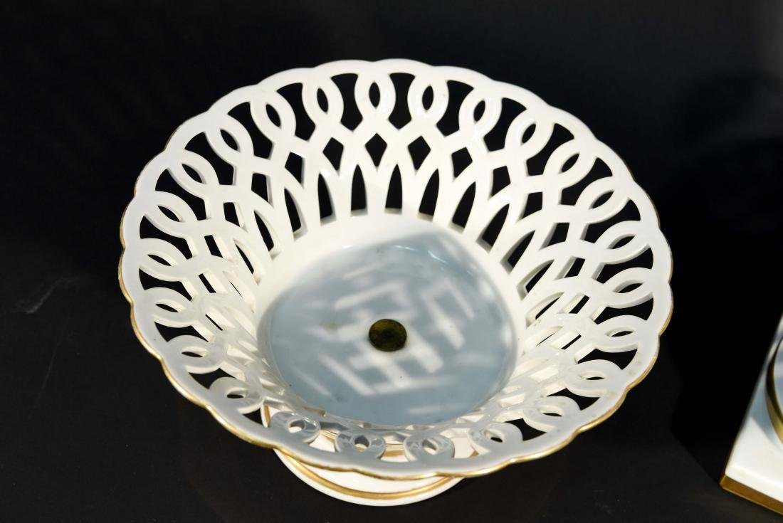LIMOGES RETICULATED PORCELAIN TAZZAS - 2