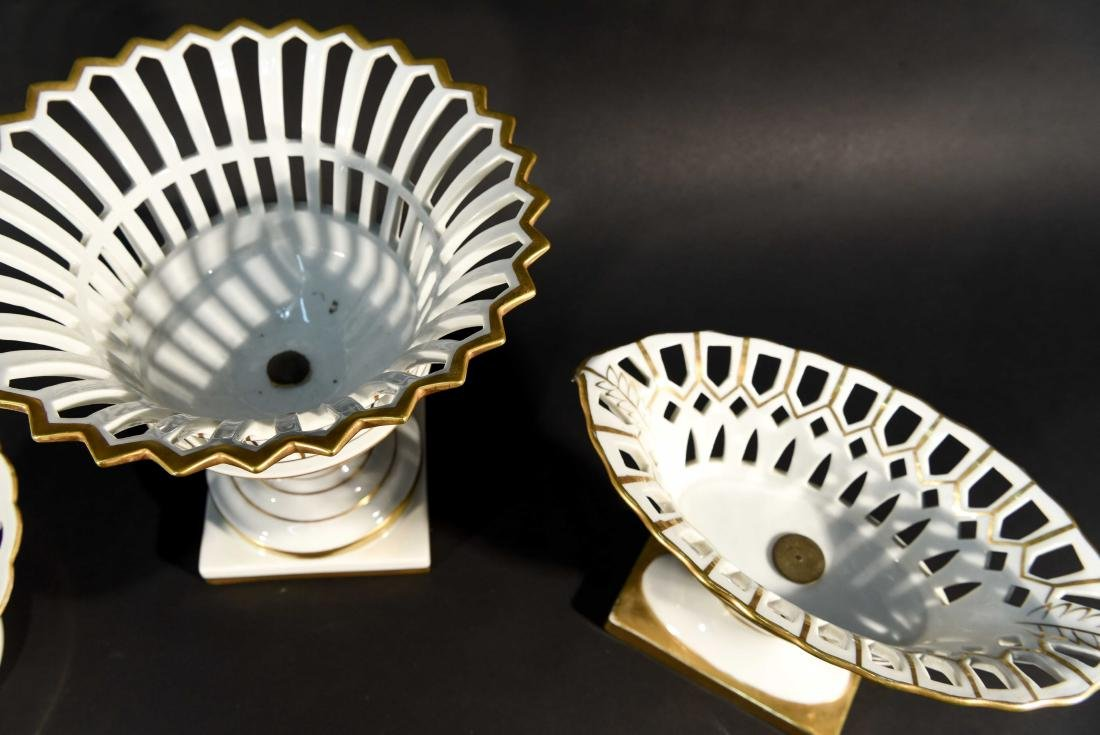 LIMOGES RETICULATED PORCELAIN TAZZAS - 3
