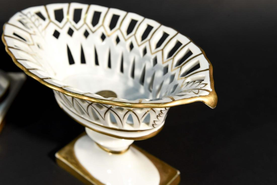 LIMOGES RETICULATED PORCELAIN TAZZAS - 4