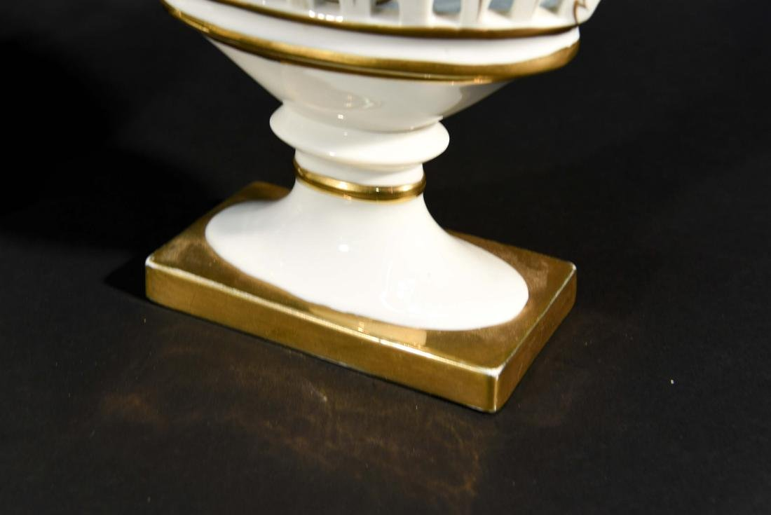LIMOGES RETICULATED PORCELAIN TAZZAS - 5