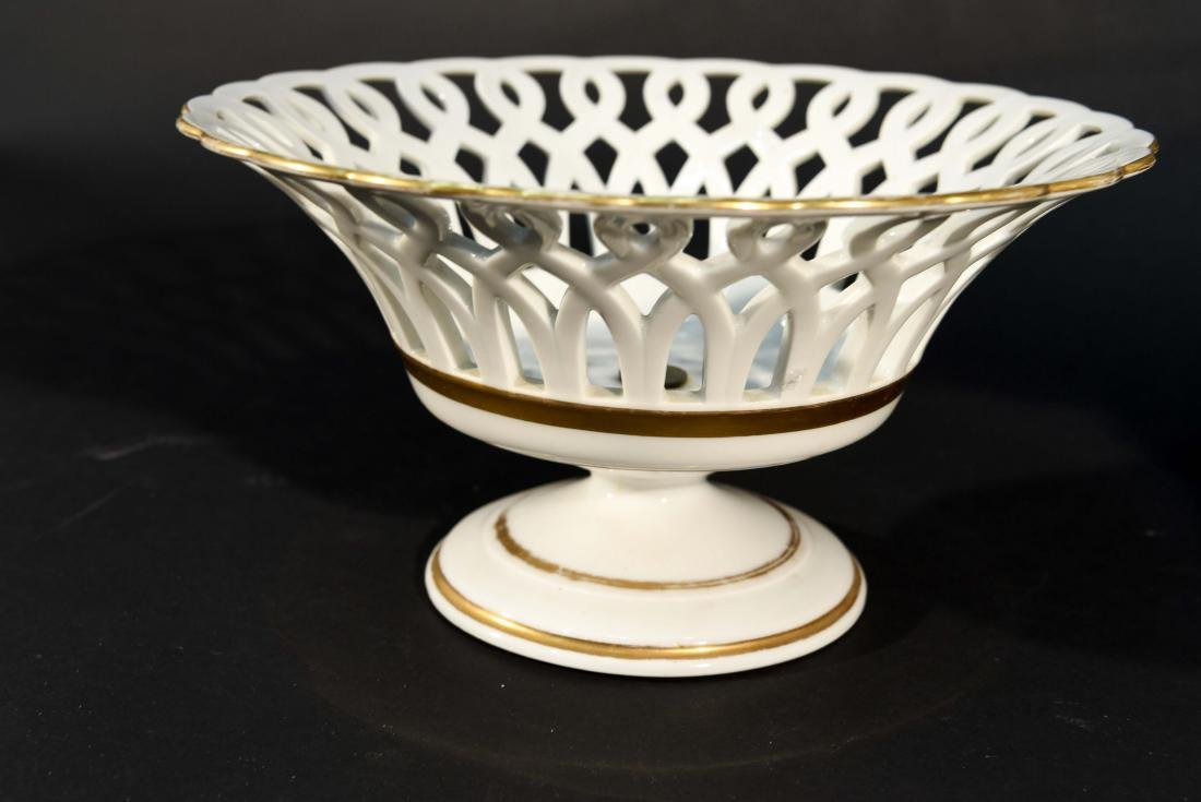 LIMOGES RETICULATED PORCELAIN TAZZAS - 7