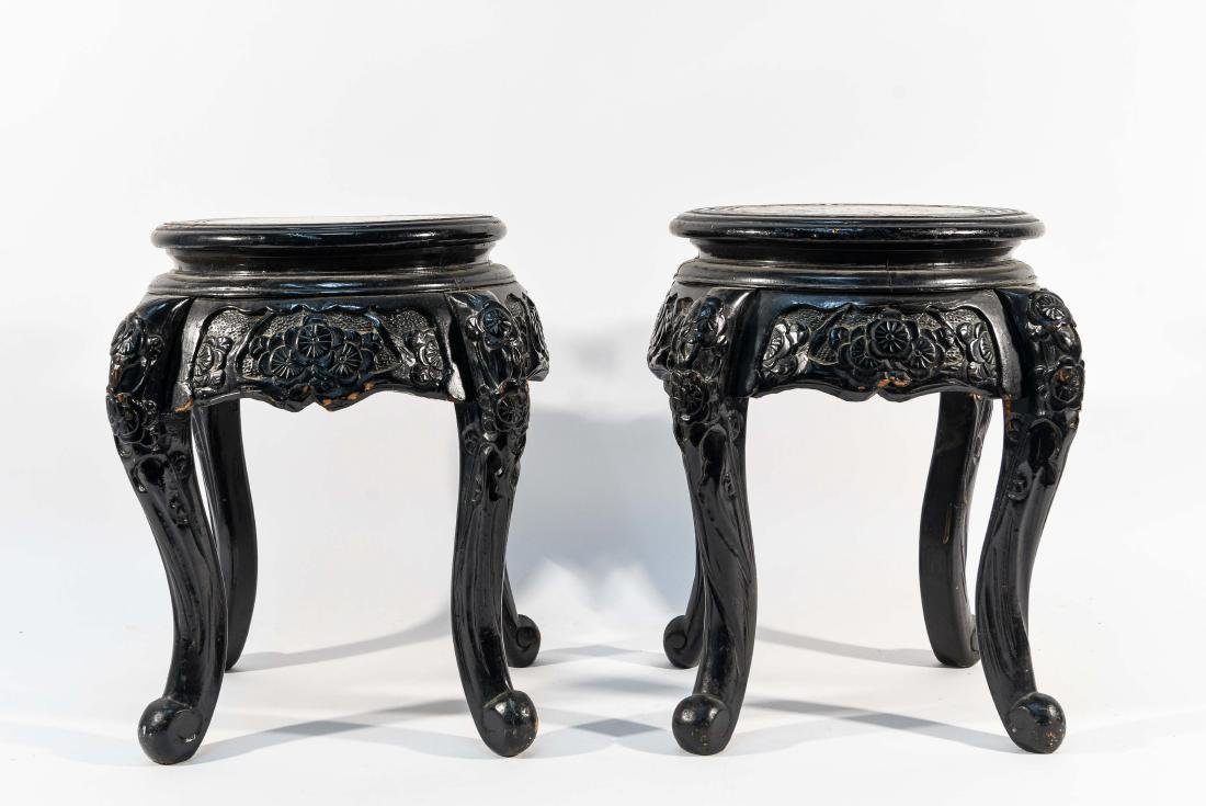 PAIR OF CHINESE WOODEN STANDS