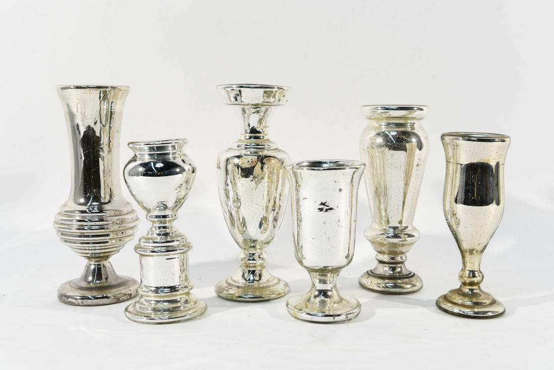 GROUPING OF MERCURY GLASS