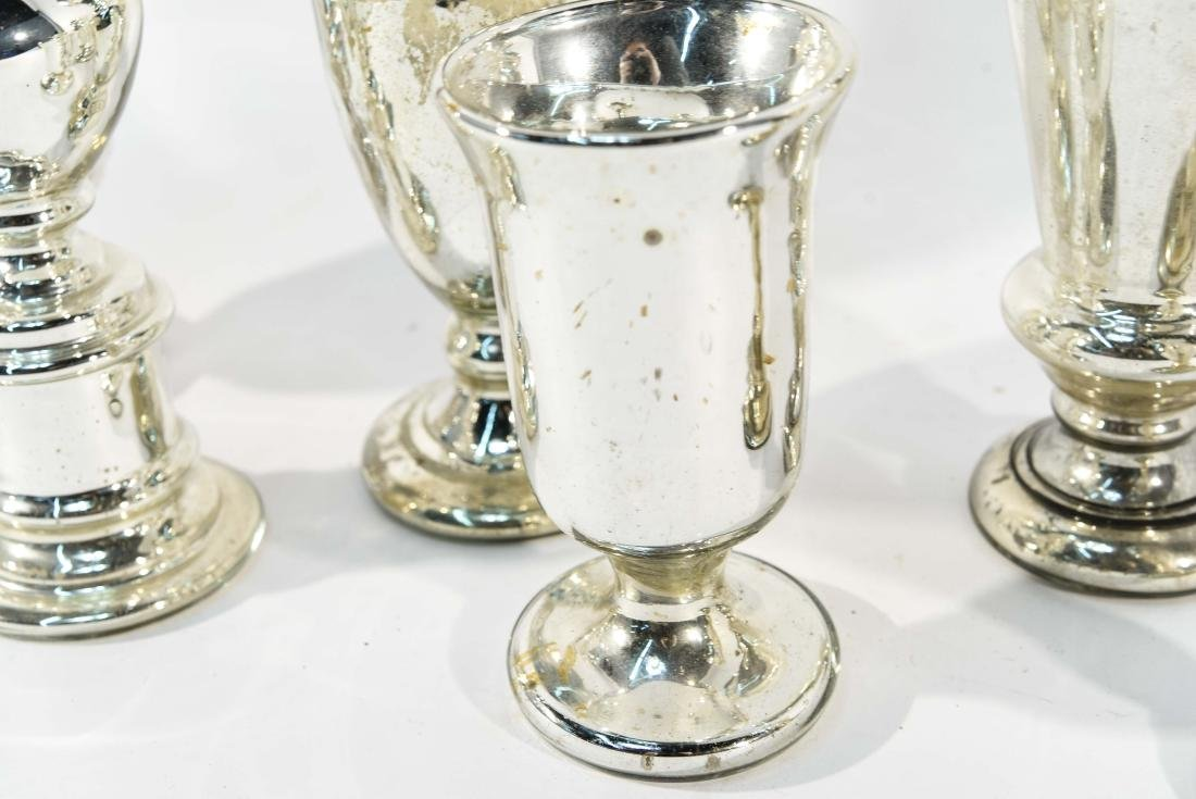 GROUPING OF MERCURY GLASS - 4