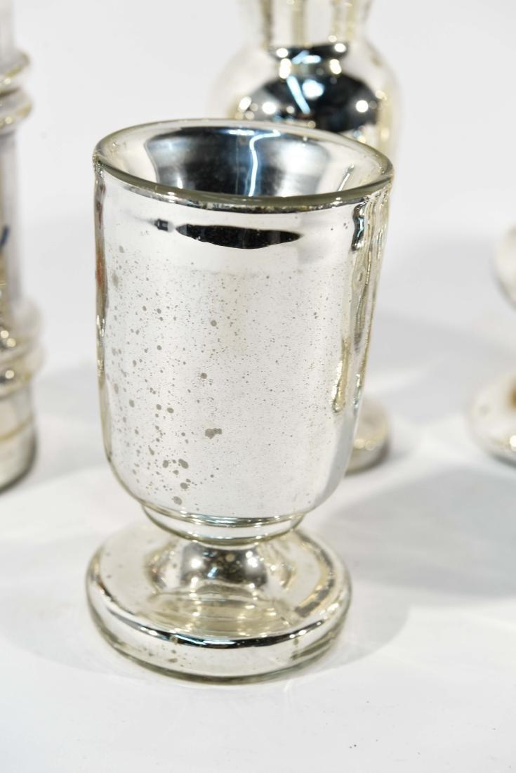 GROUPING OF MERCURY GLASS - 3