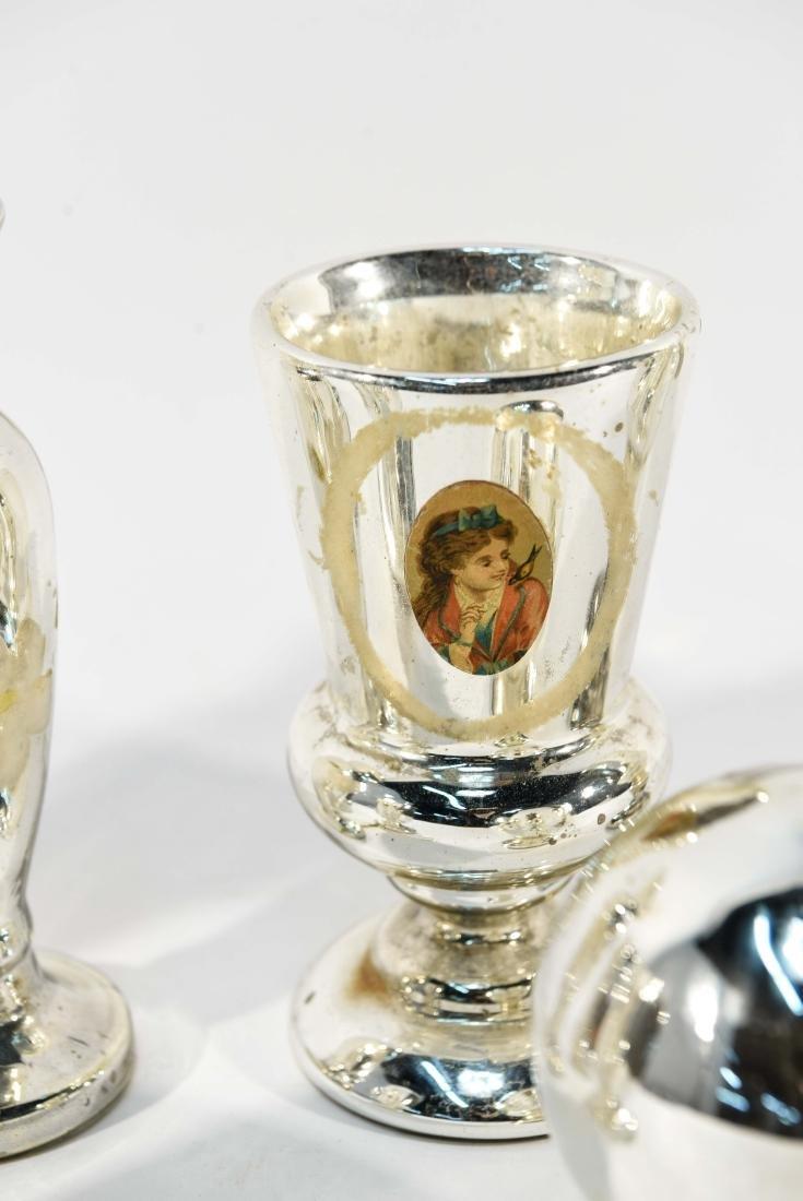 GROUPING OF MERCURY GLASS - 5