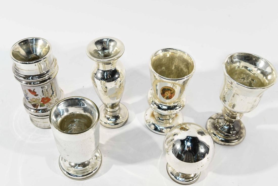 GROUPING OF MERCURY GLASS - 8