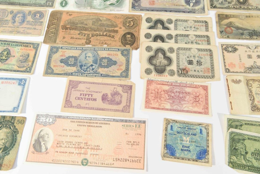 GROUPING OF VINTAGE BANK NOTES, ETC. - 10