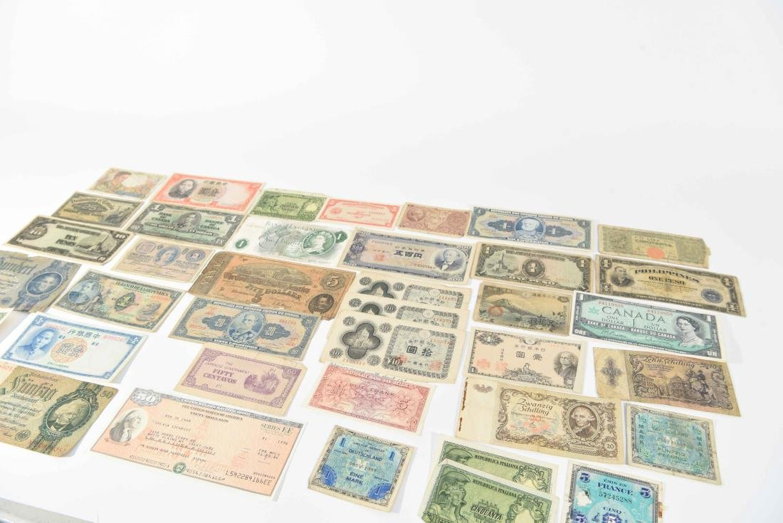 GROUPING OF VINTAGE BANK NOTES, ETC. - 11